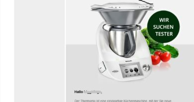 Thermomixer-Produkttester gesucht? (Screenshot)