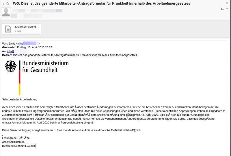 Corona-Info vom Bundesministerium für Gesundheit (Foto: polizei-praevention.de)