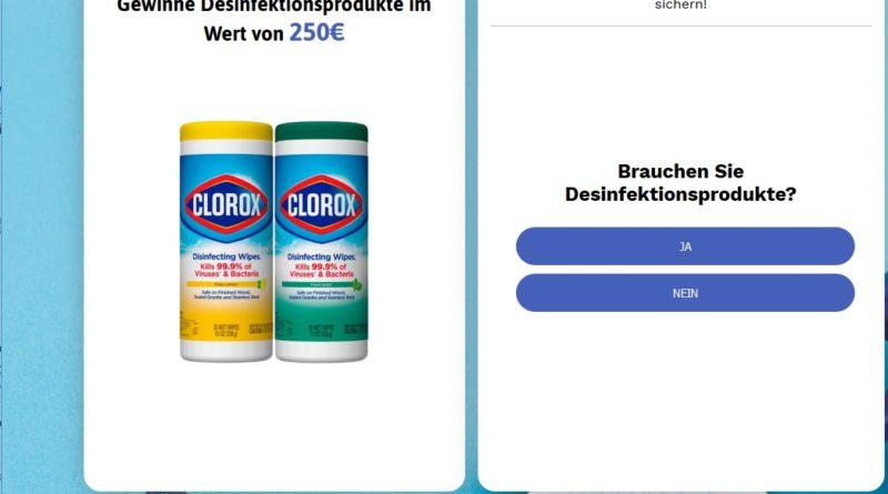 Desinfektionsmittel-Gewinnspiel (Screenshot)