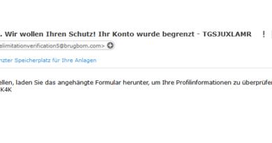 Achtung, PayPal-Phishing (Screenshot)