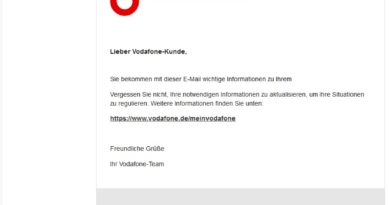 Vodafone-Phishing (Screenshot)