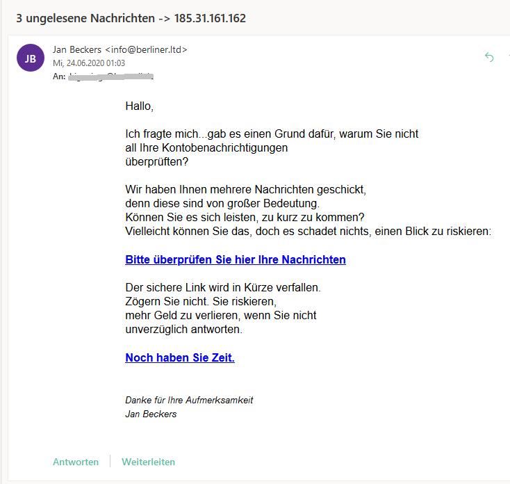 Berlin Limited: ungelesene Nachrichten (Screenshot)