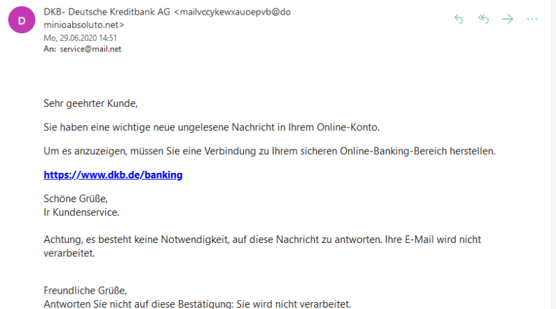 DKB Phishing (Screenshot)
