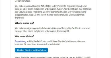 Vorsicht, PayPal-Phishing: Wir benötigen Ihre Hilfe (Screenshot)