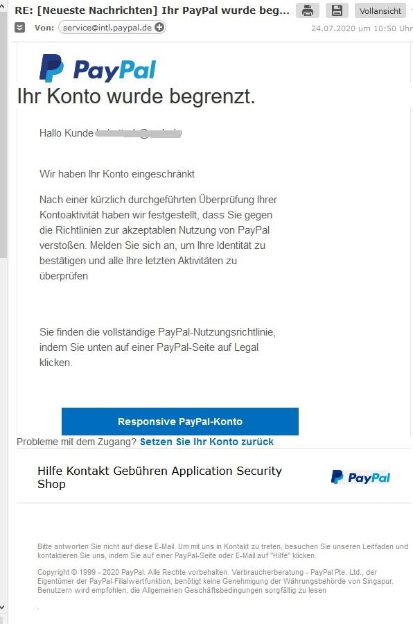 Www.Paypal Konto.De