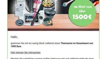 Thermomix-Gewinnspiel: ein Fake (Screenshot)