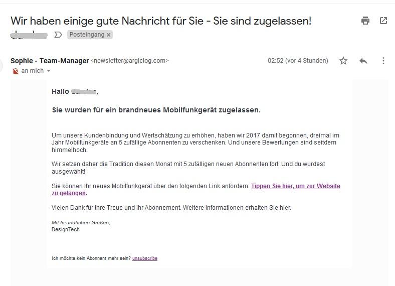 Achtung, Abo-Falle (Screenshot)