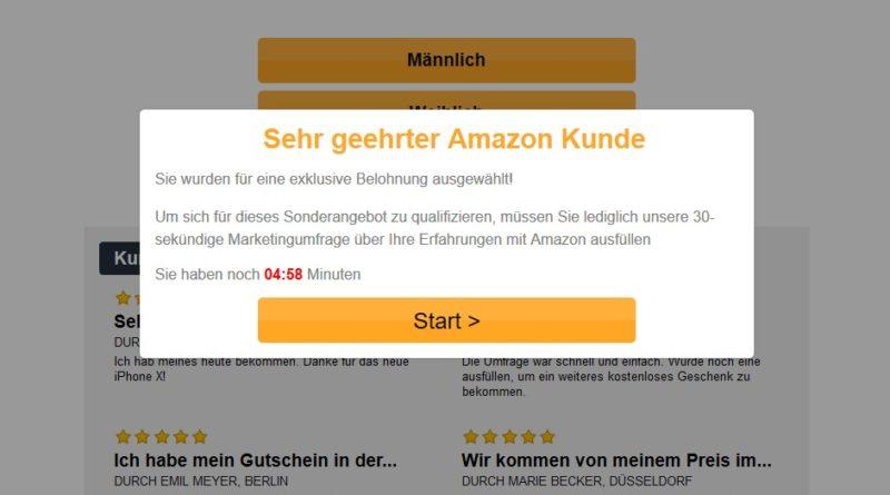 Amazon-Kundenumfrage Start