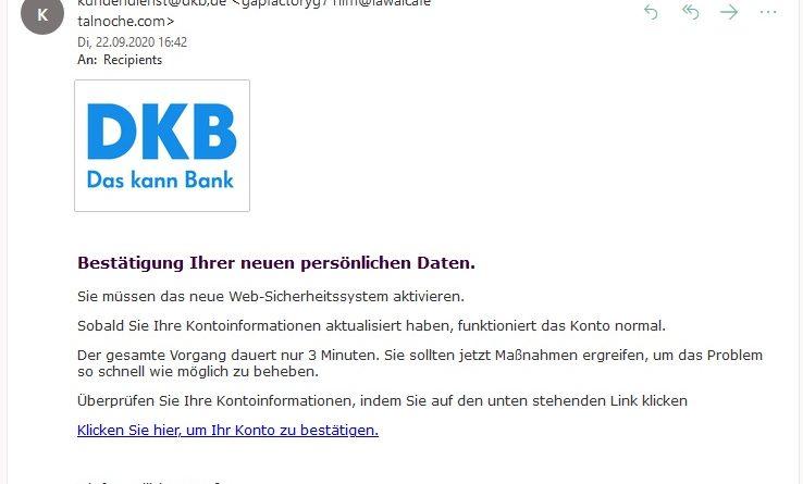 DKB-Phishing (Screenshot)