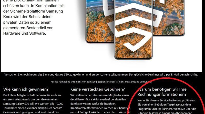 Scrollen Sie IMMER an Ende der Seite! (Screenshot)