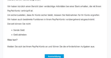 """PayPal-Phishing: """"Aktivität greift auf Informationen zu"""" (Foto: verbraucherzentrale.nrw)"""