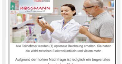 Spam-Falle für Rossmann-Shopper (Screenshot)