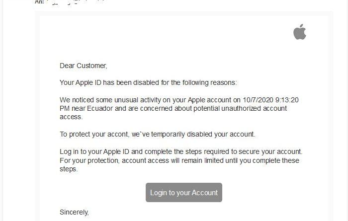"""Der """"wichtige Hinweis"""" ist Apple-Phishing (Screenshot)"""