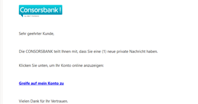 Consorsbank-Phishing (Screenshot)