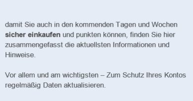 "PayBack-Phishing: ""AKTUELLER SICHERHEITSHINWEIS"" (Screenshot)"