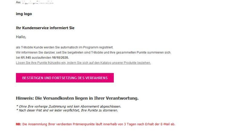 Telekom-Cashback: Vorsicht, Abofalle! (Screenshot)