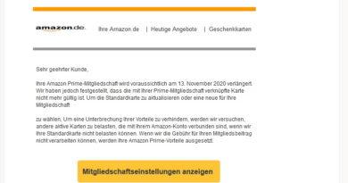 Vorsicht, Amazon-Prime-Phishing (Screenshot)