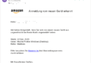 Amazon-Phishing: Kontofunktionen wurden geschlossen (Screenshot)