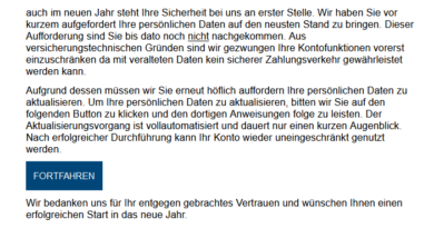 Volks- und Raiffeisenbanken-Phishing (Foto: verbraucherzentrale.nrw)