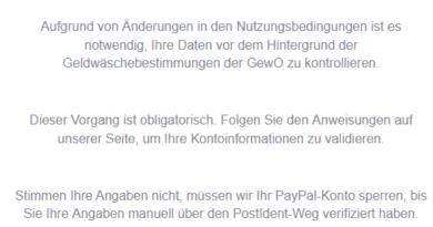 PayPal-Phishing: Änderung wegen GewO (Foto: verbraucherzentrale.nrw)