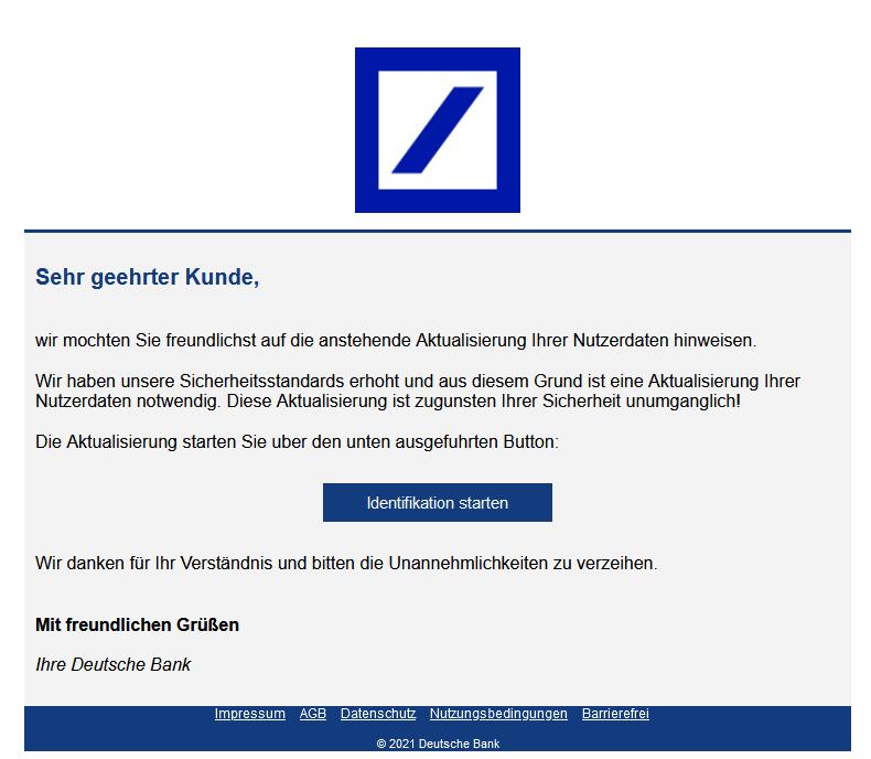 Deutsche Bank Phishing: Anstehende Aktualisierung (Foto: verbraucherzentrale.nrw)