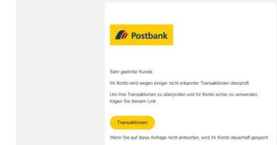 Postbank-Phishing: Ausgesetzt (Screenshot)